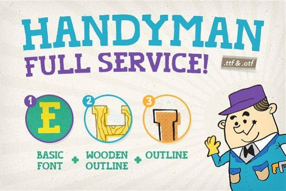Handyman Font Full Service example image 1