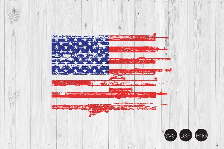 Distressed Gun Flag SVG example image 1