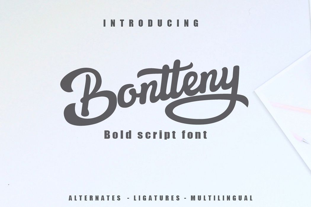 Bontteny Font example image 1