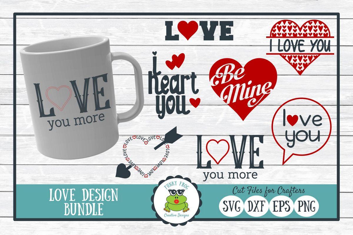 Love Design Bundle - Valentine SVG Cut Files example image 1