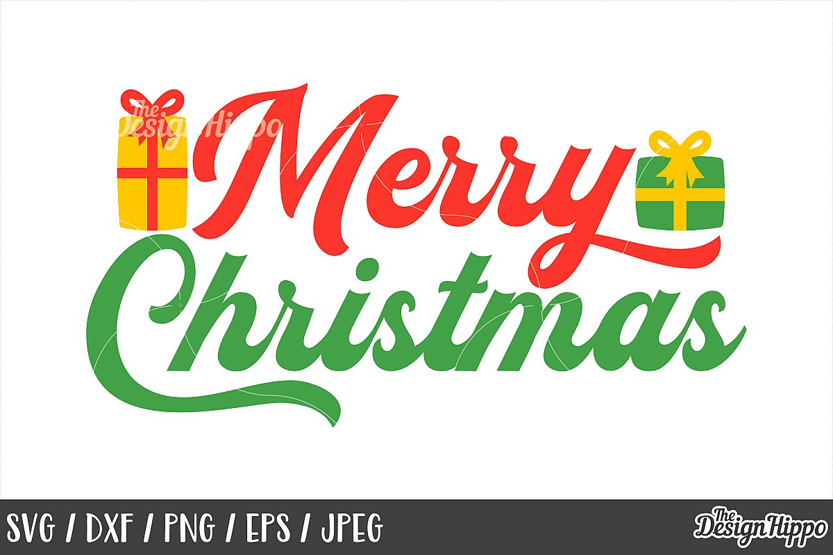 Christmas, Merry Christmas SVG, DXF, PNG, Cricut, Cut Files example image 1