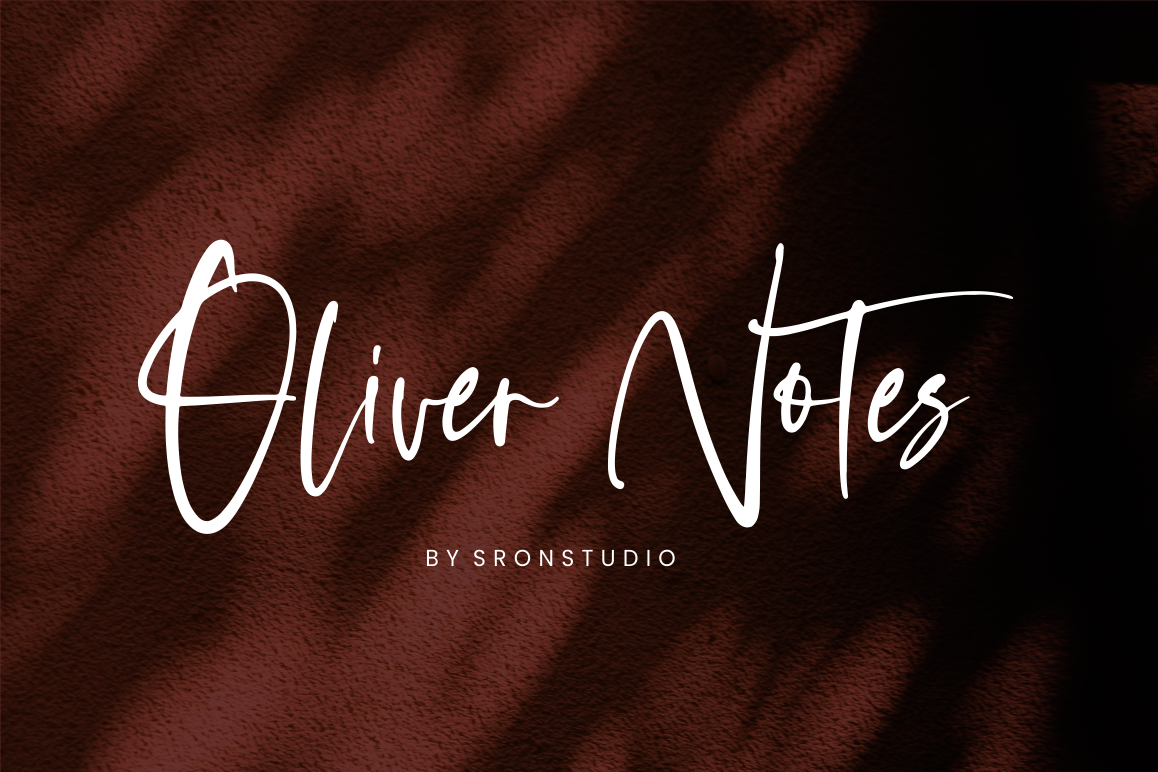 Oliver Notes - Handwritten Font example image 1