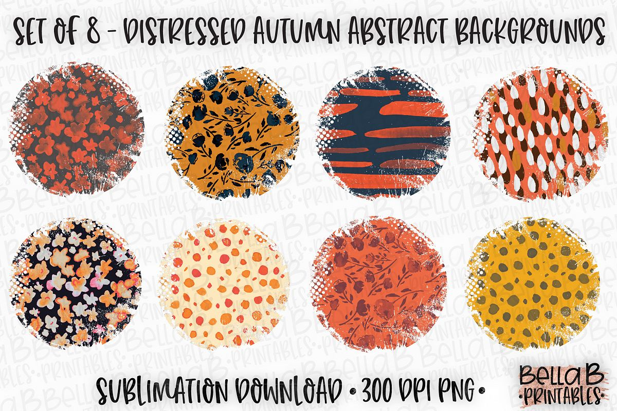 Autumn Fall Sublimation Background Bundle, Abstract Pattern example image 1