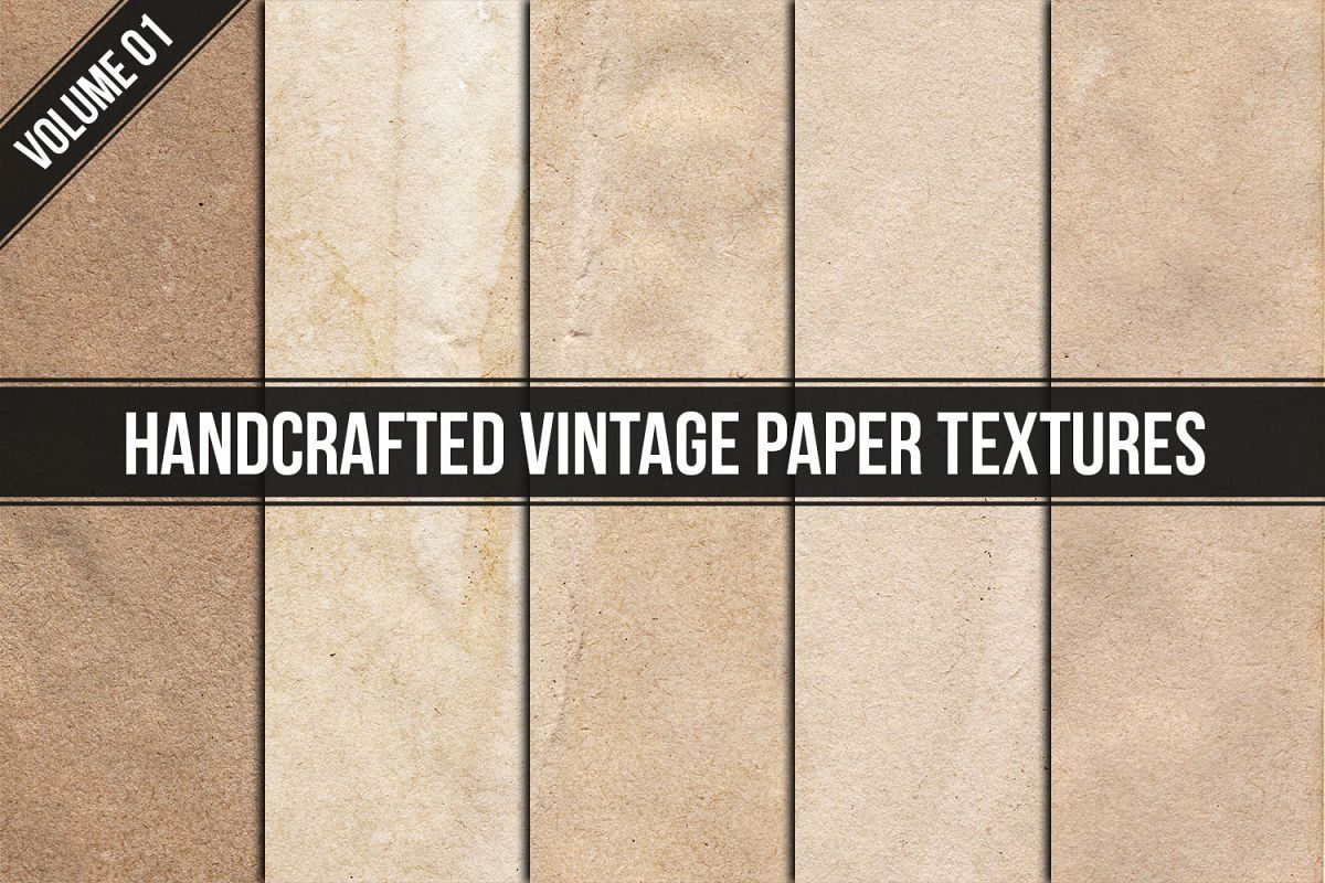 Handcrafted Vintage Paper Textures Vol. 01 example image 1