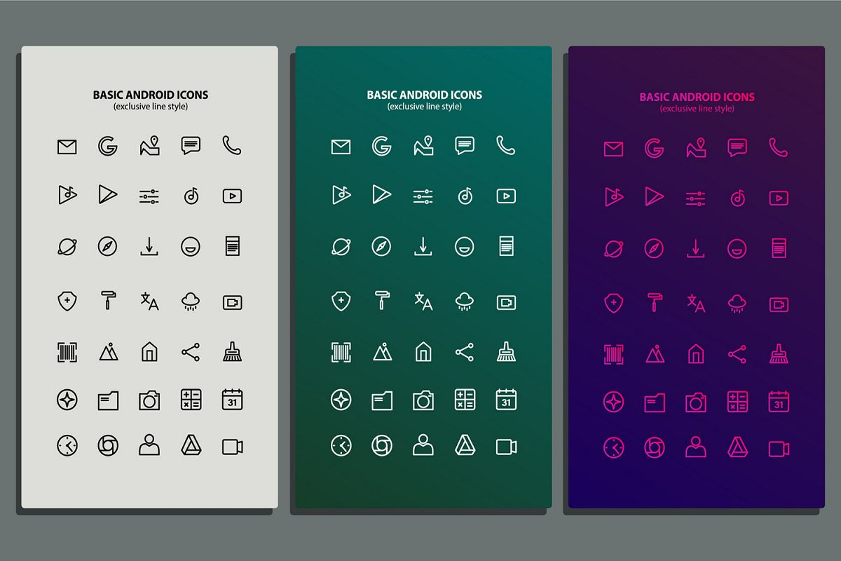 Basic Android Icon Packs example image 1