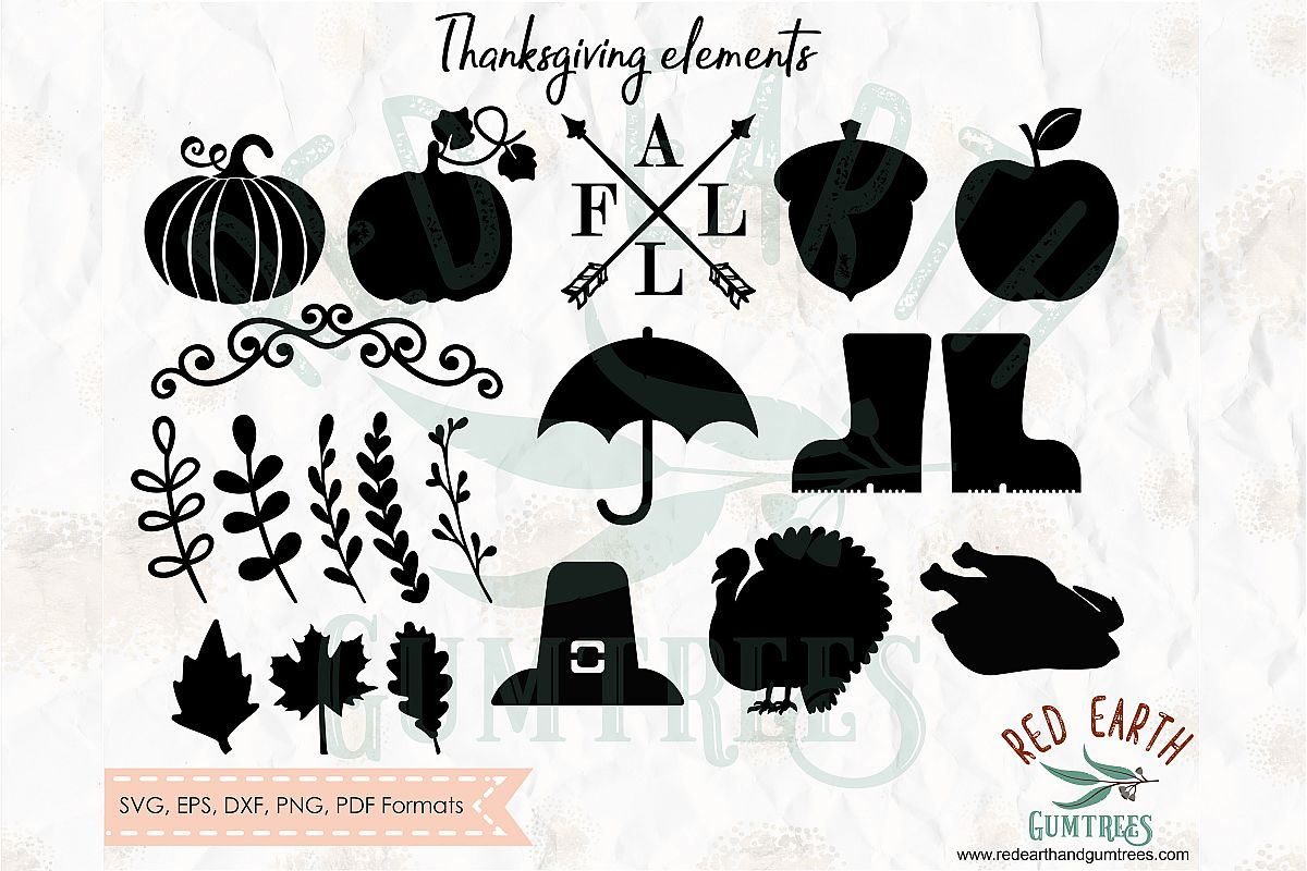 Thanksgiving bundle, Fall elements,Halloween SVG,DXF,PNG,EPS example image 1