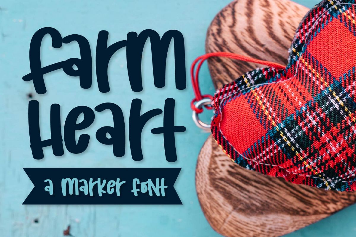 Farm Heart - A Mixed Caps Marker Font example image 1