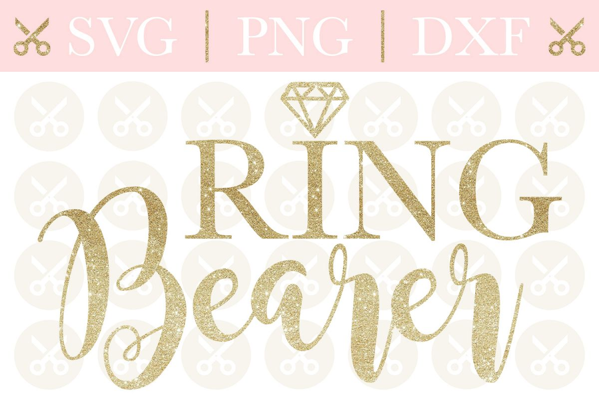 Ring Bearer Svg Wedding Svg Ring Security Svg Cutting File example image 1