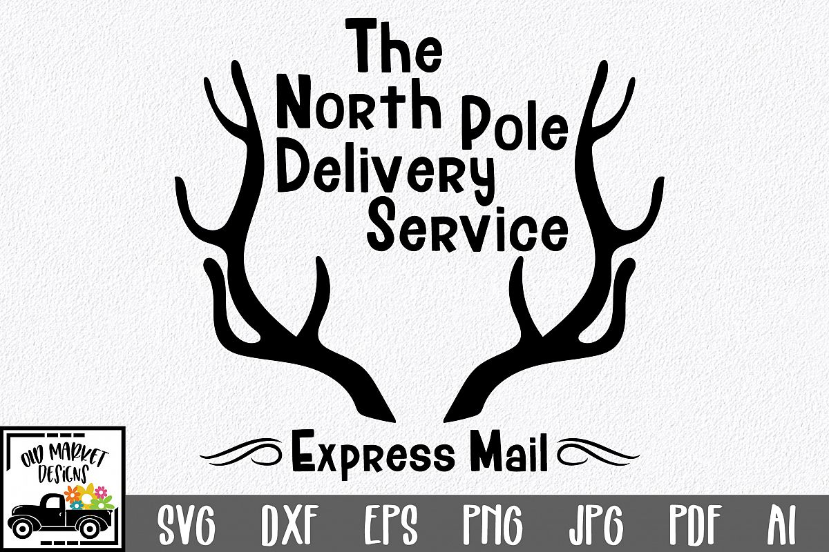 Christmas SVG Cut File - North Pole Delivery Service SVG DXF example image 1