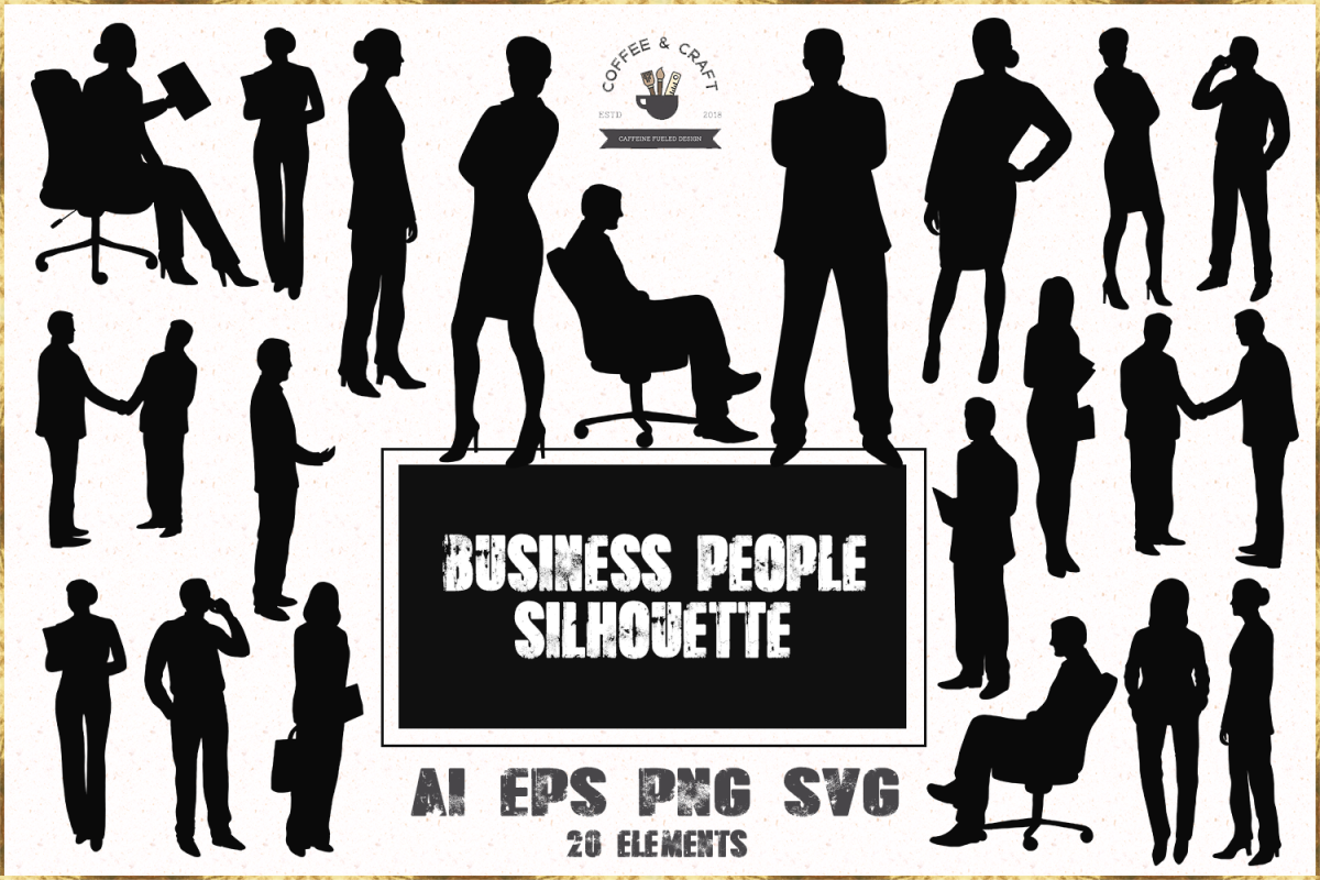 Business people silhouette example image 1
