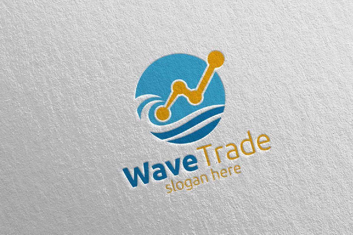 Wave Trade Marketing Financial Advisor Logo Design 26 example image 1