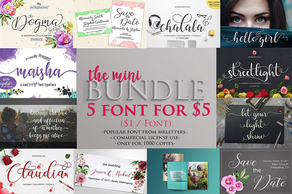 The Mini Bundle $1 /font example image 1