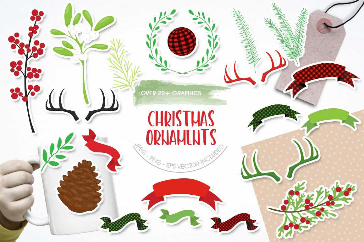Christmas Ornament graphic and illustratiions example image 1