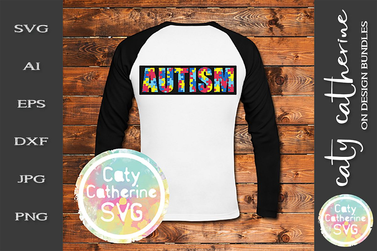 Autism SVG Jigsaw Puzzle Autism Awareness Cut File example image 1