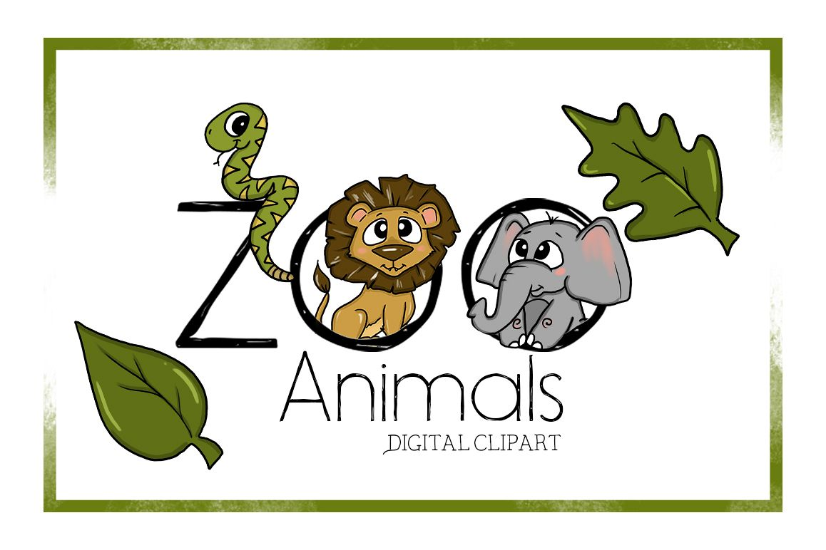 Zoo Clipart-DigitalClipart-Animal Clipart-Cute-Cartoon-Zoo ...