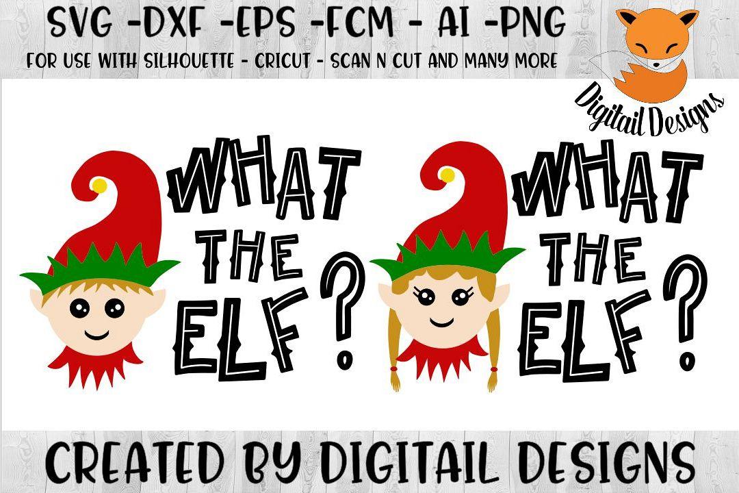 Funny Christmas Elf SVG for Silhouette, Cricut
