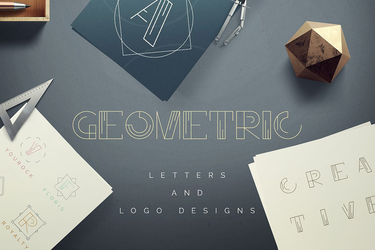 Geometric Letters and Logo Designs example image 1