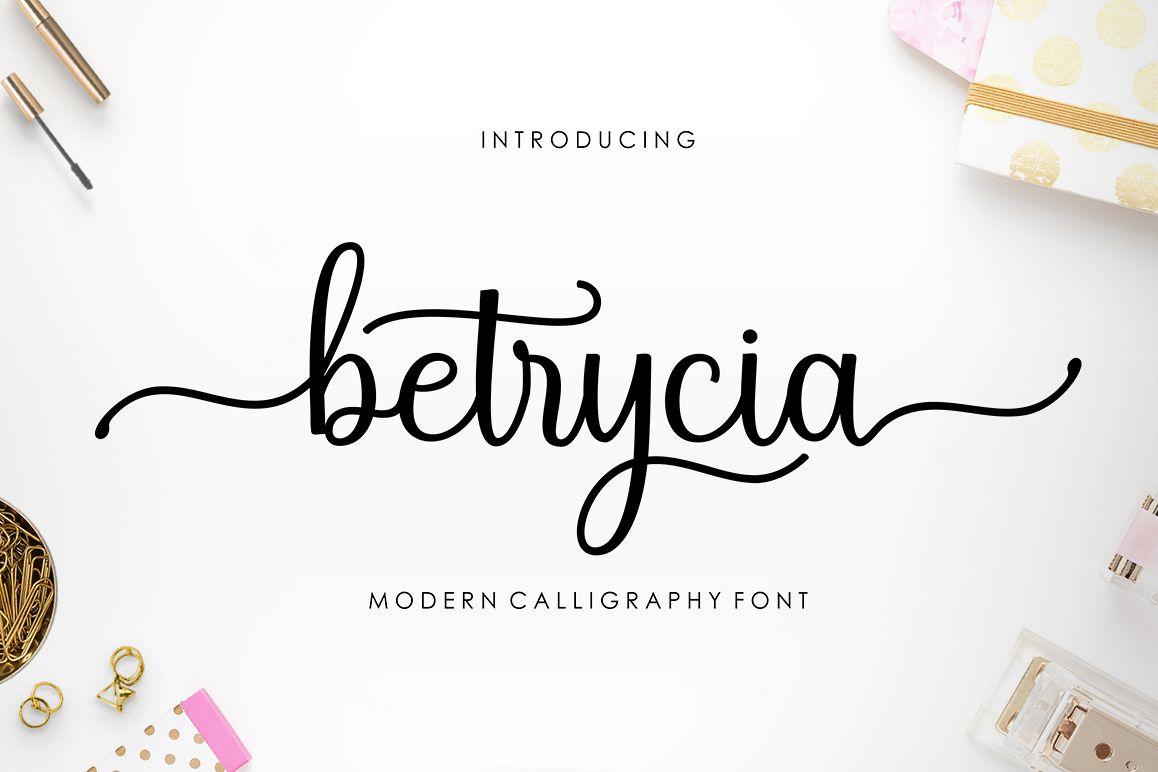 Betrycia Script example image 1