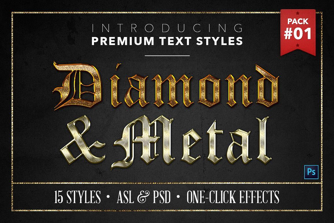 Diamond & Metal #1 - 15 Text Styles example image 1