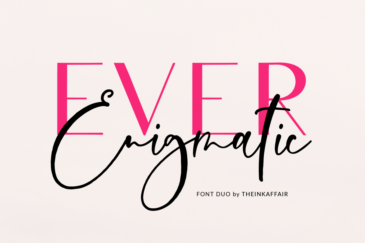 Ever Enigmatic Font Duo example image 1