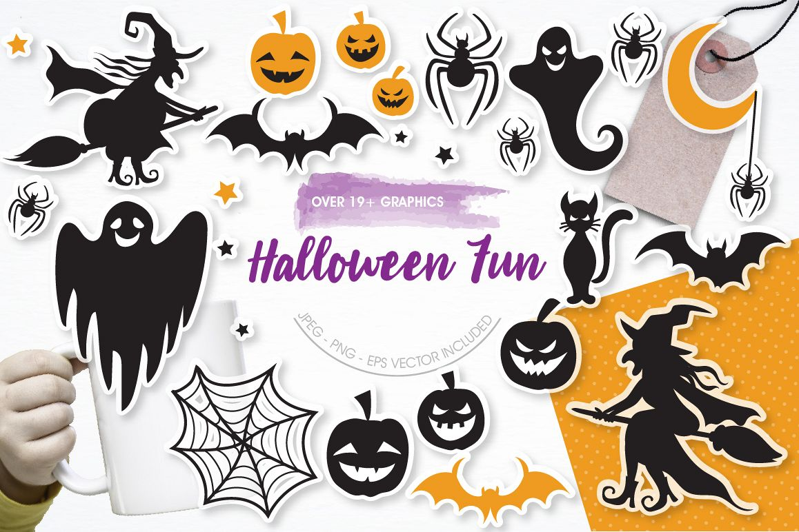 Halloween Fun graphics and illustrations example image 1