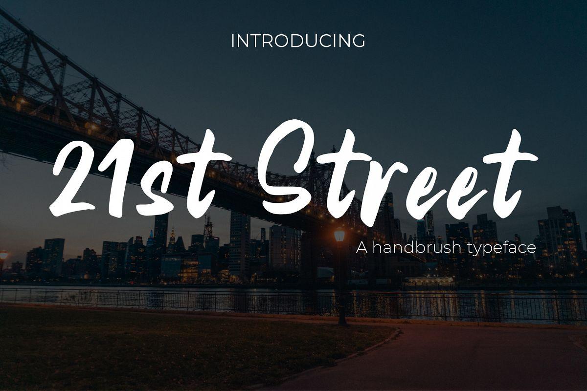 21st Street Hand brush Typeface example image 1