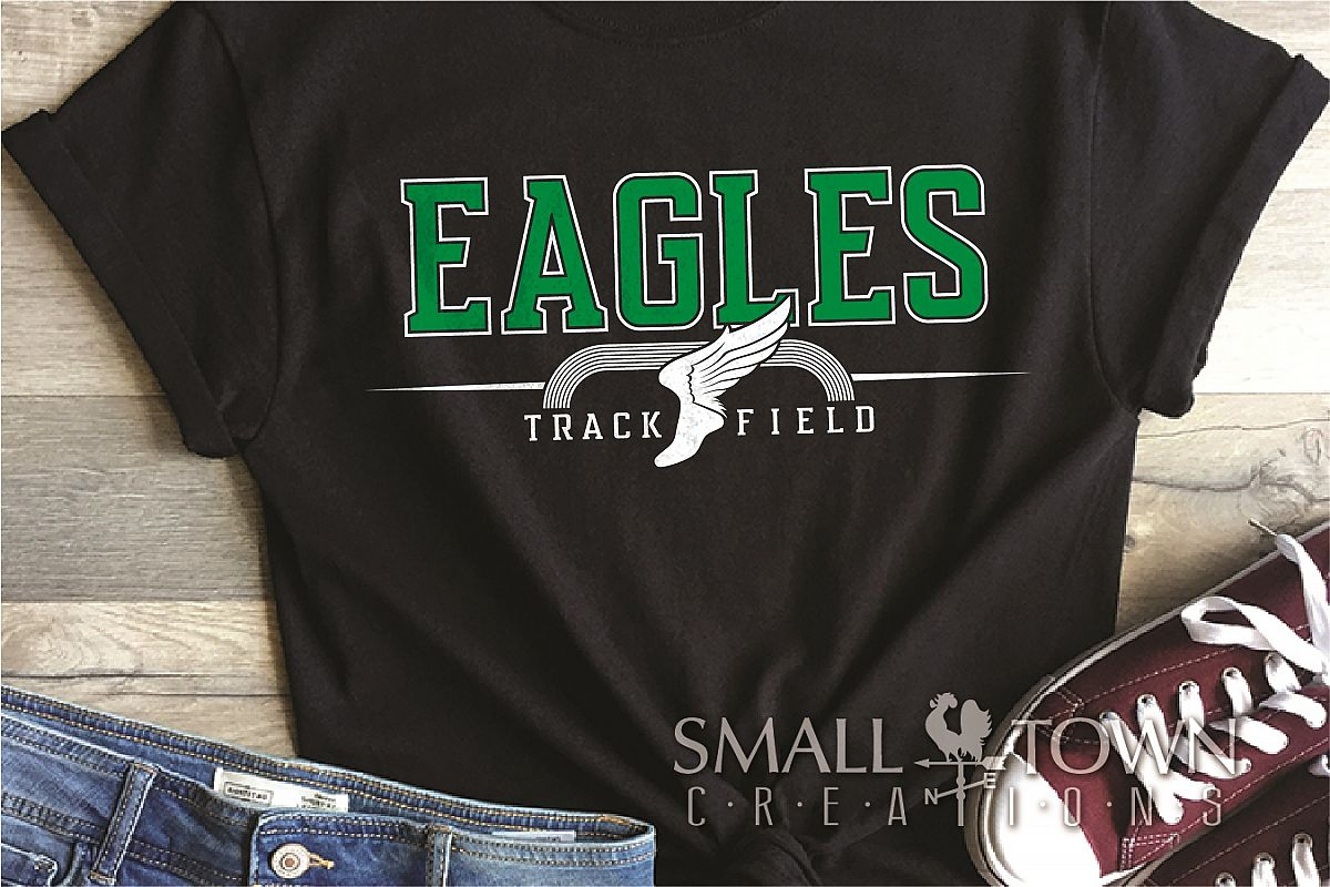 Eagle, Track and Field, Team, logo, PRINT, CUT & DESIGN example image 1