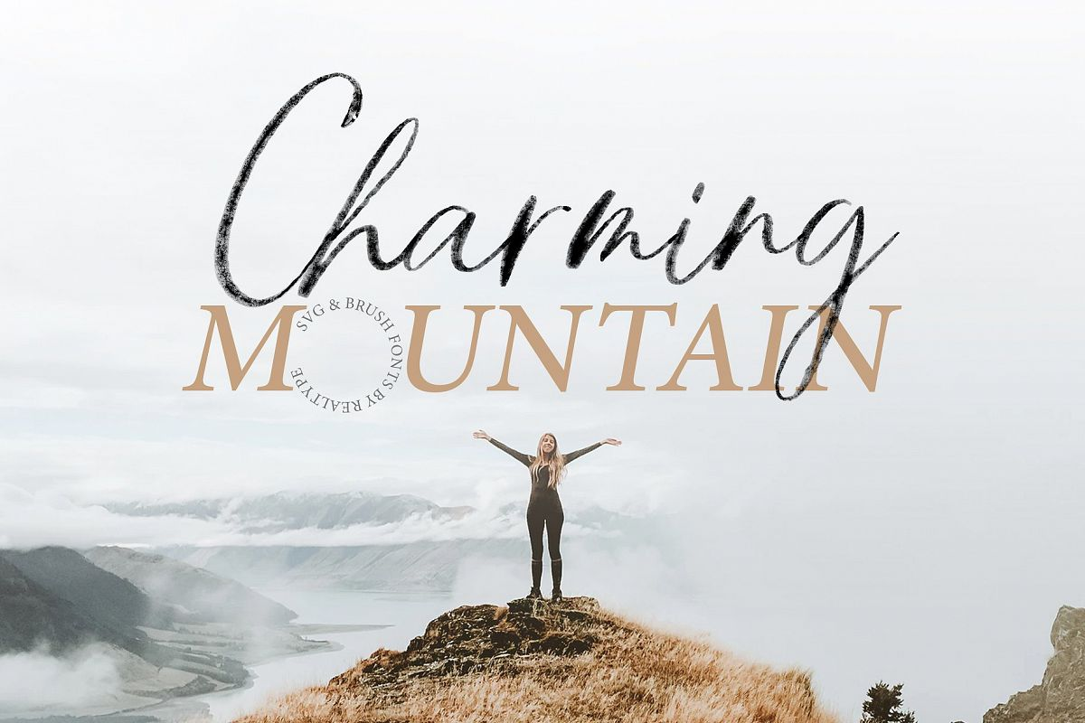 Charming Mountain - SVG example image 1