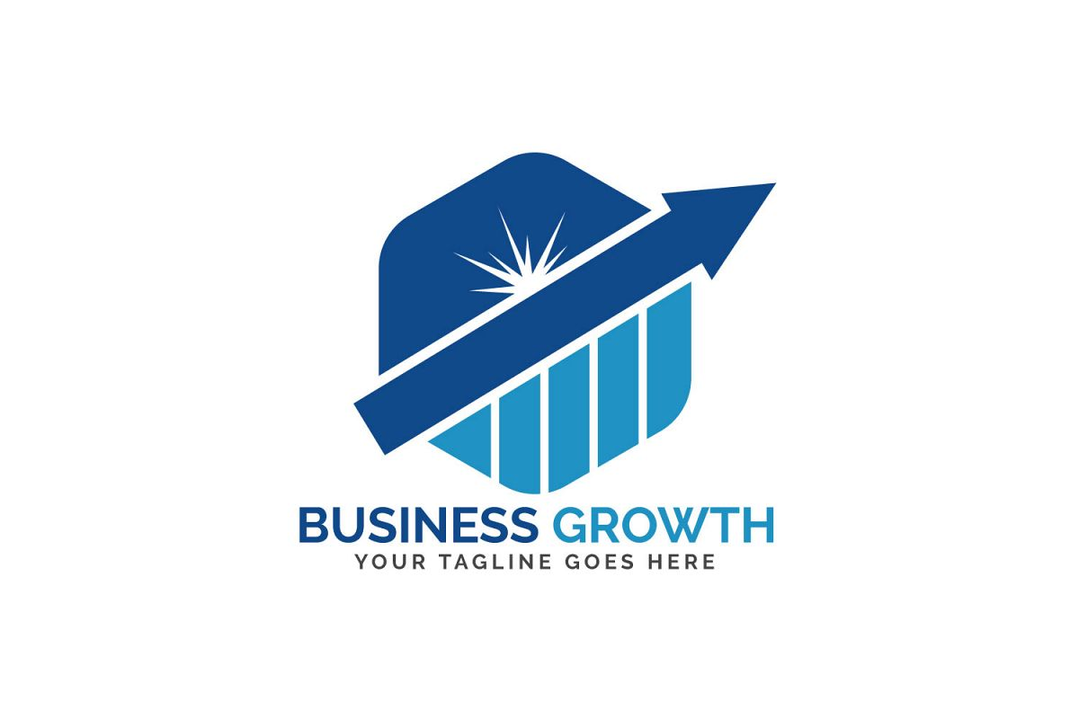 Business Growth Logo Design. example image 1
