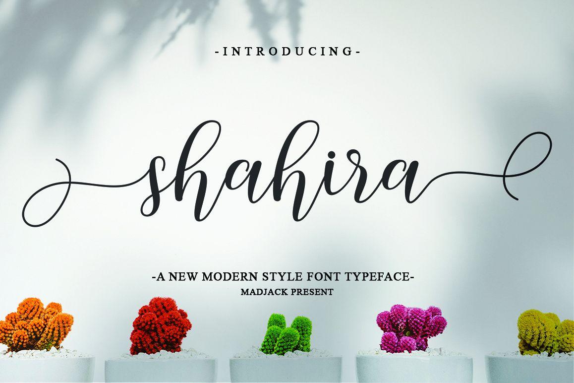 Shahira script example image 1