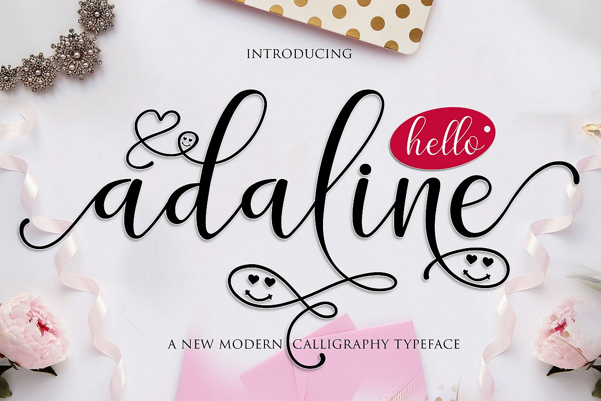 Adaline Script Font Family example image 1