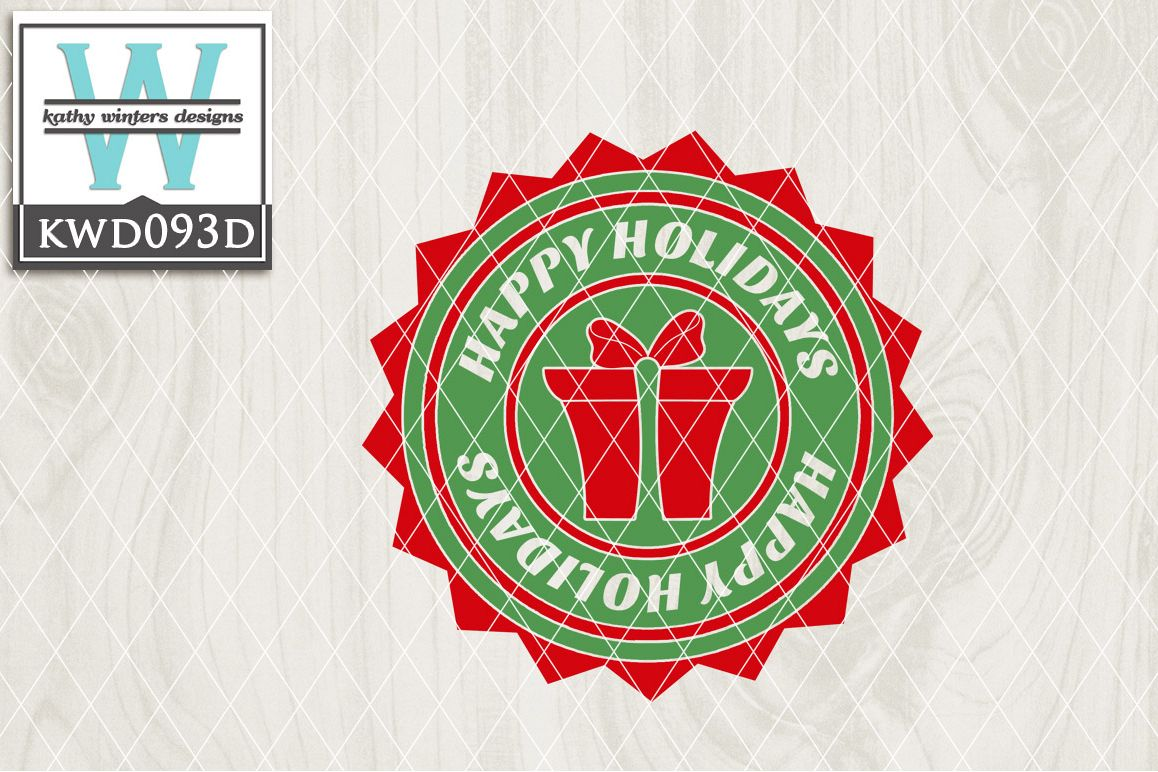Christmas Cutting File KWD093D example image 1