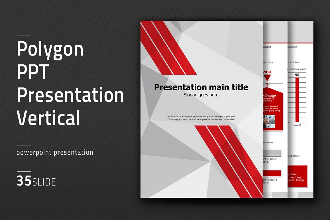 Polygon PPT Presentation Vertical example image 1