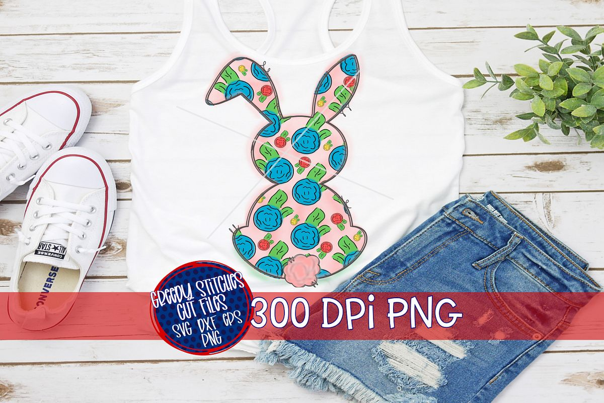 Easter PNG | Easter Bunny PNG For Sublimation example image 1