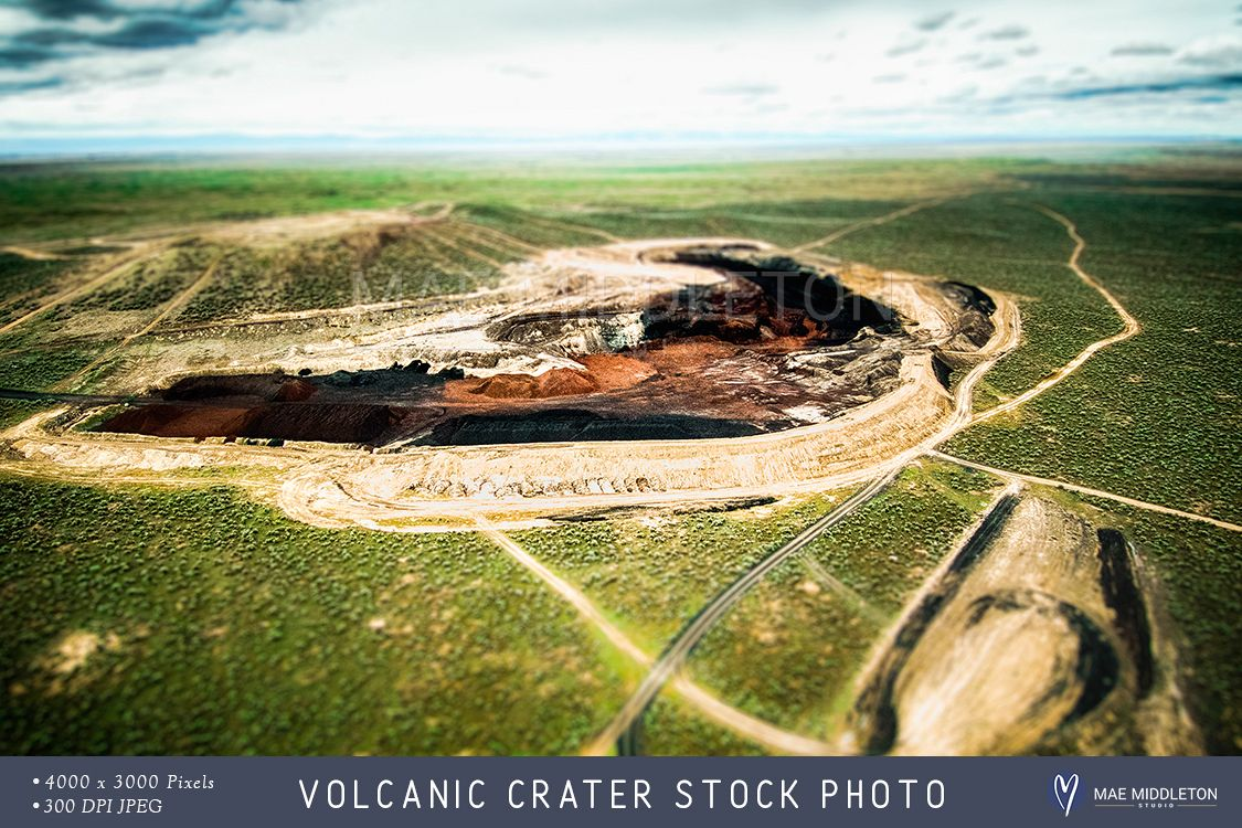 Volcanic Crater stock photo example image 1