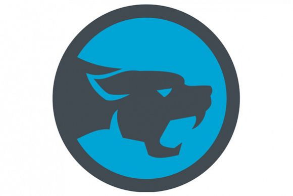 Black Panther Head Growling Circle Retro example image 1