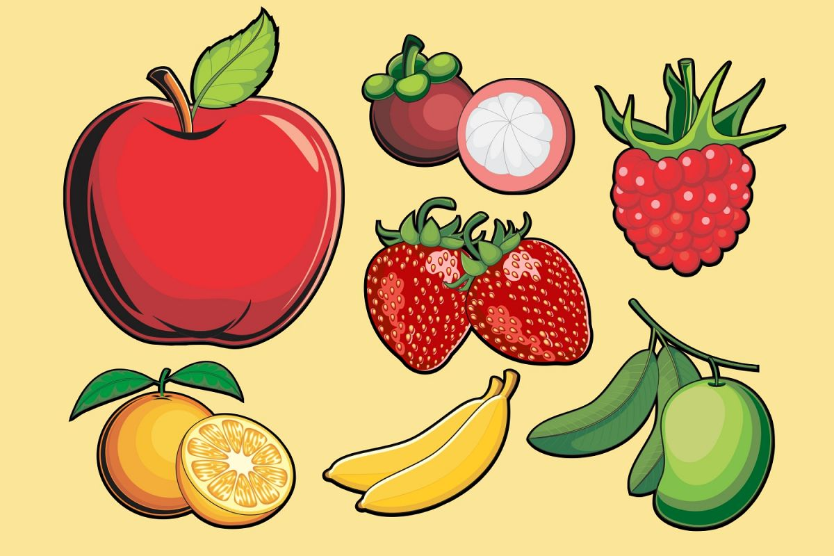 Fruits Vector Pack example image 1