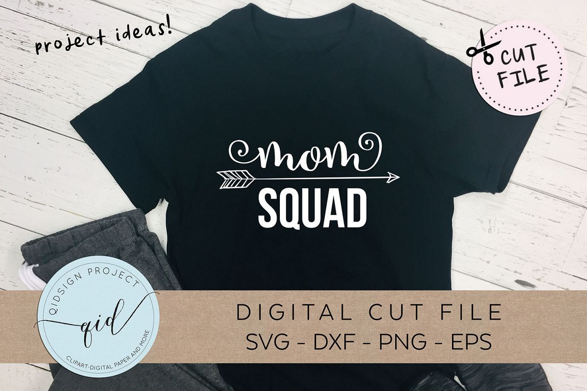 Mom squad SVG DXF PNG EPS example image 1
