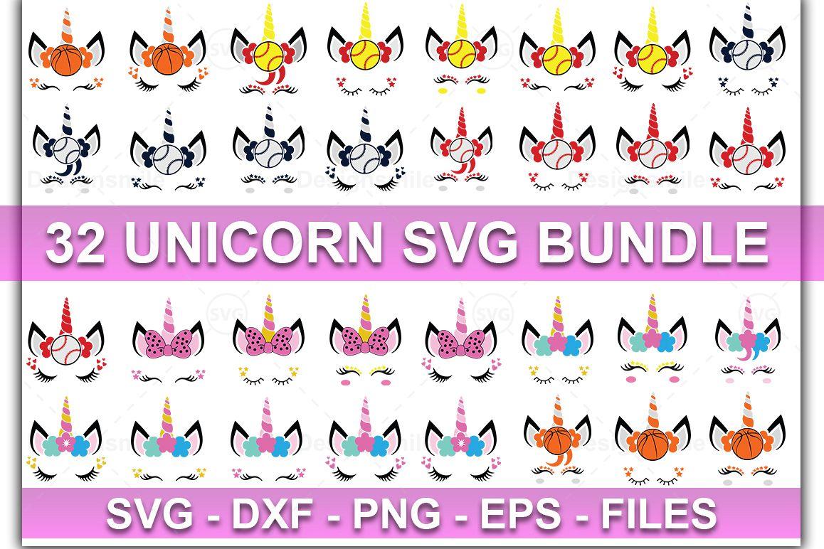 Unicorn Bundle SVG | Unicorn svg | Unicorn Face SVG example image 1