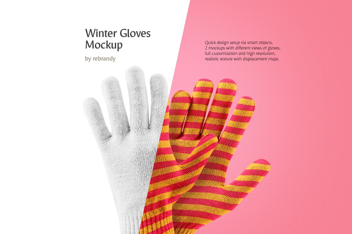 Winter Gloves Mockup example image 1