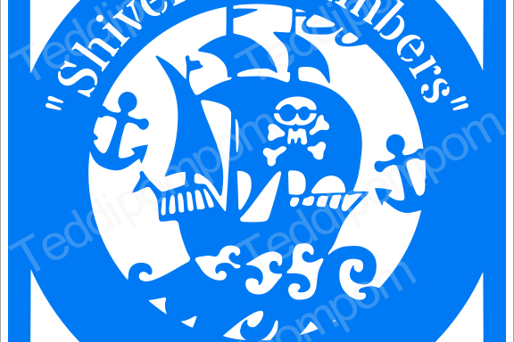 Boys SVG paper cutting file, Shiver Me Timbers Pirate Ship Papercut template, SVG Cutting File, Cricut & Silhouette Cameo, Scrapbooking, Card Making example image 1
