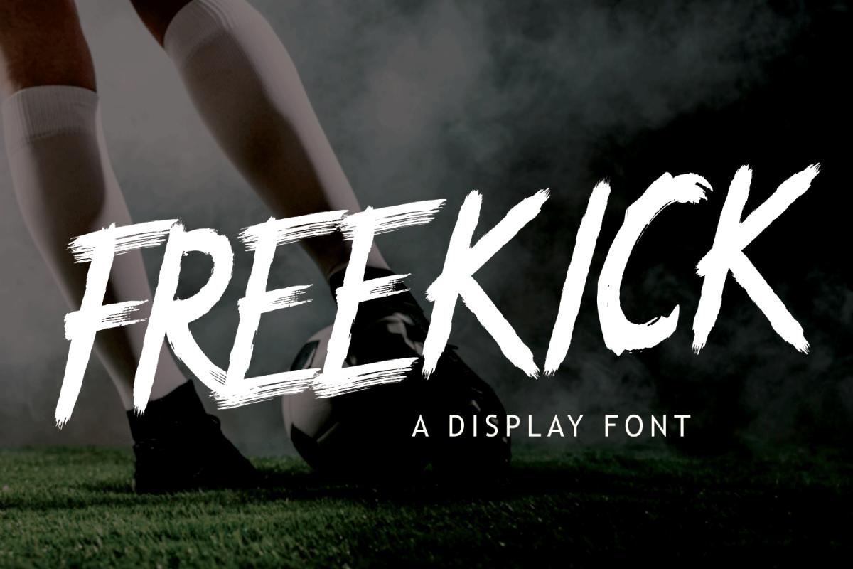 FREEKICK - Brush Font example image 1