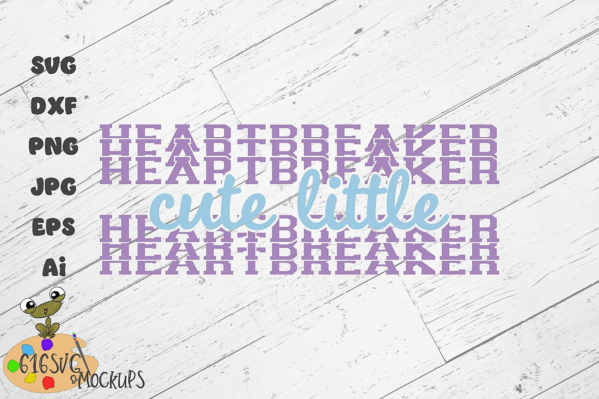 Cute Little Heartbreaker SVG example image 1