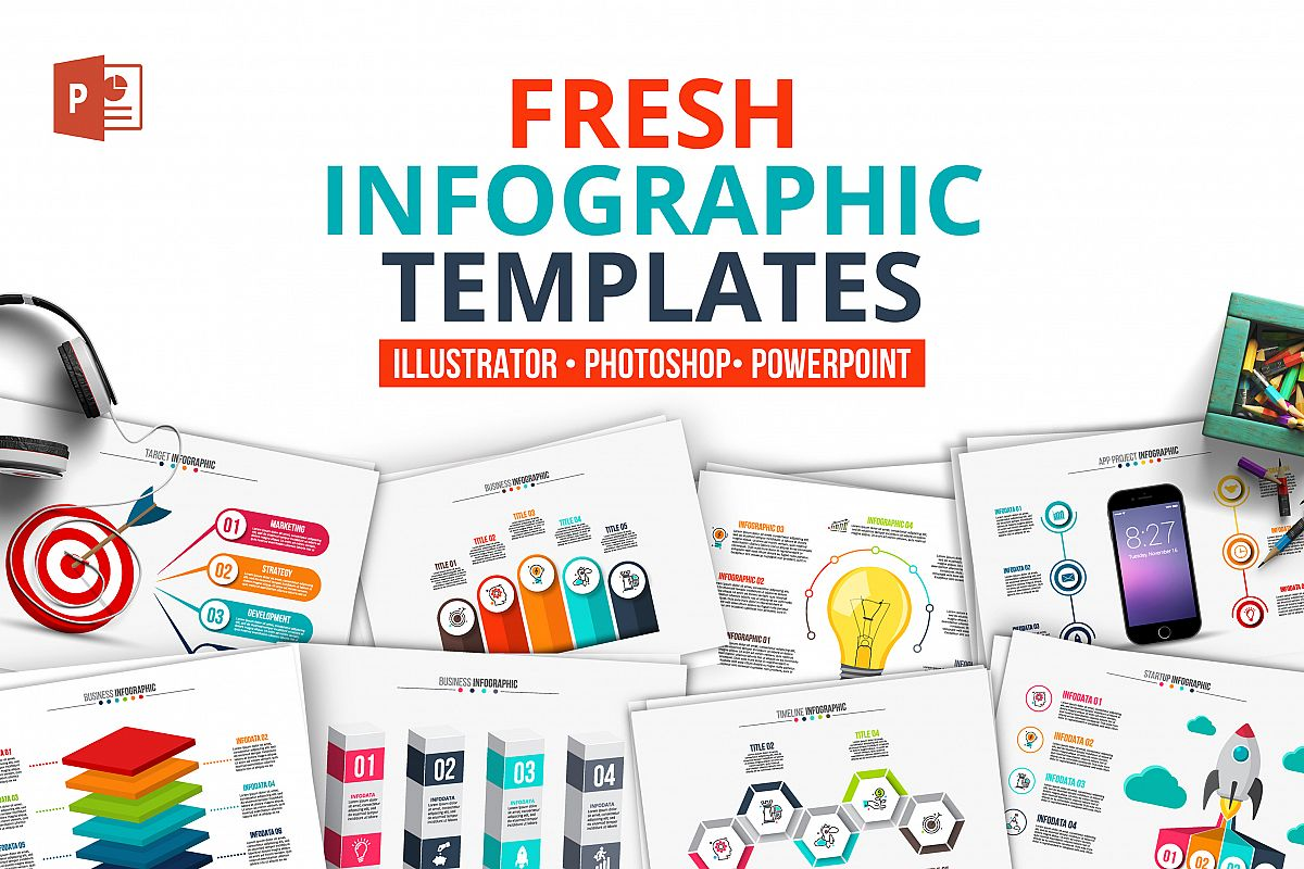 fresh powerpoint infographics