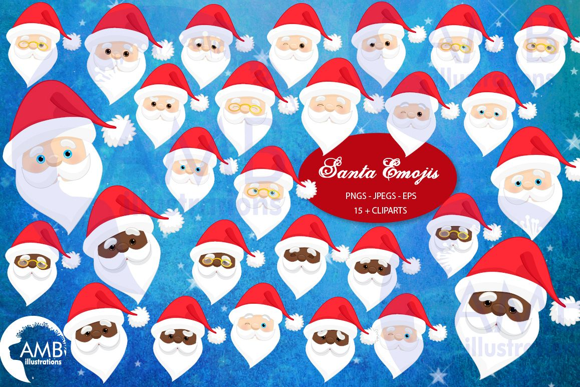 Santa claus emoji, Santa claus emoticons, AMB-2697 example image 1