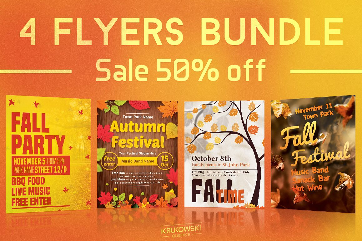 fall autumn flyers templates