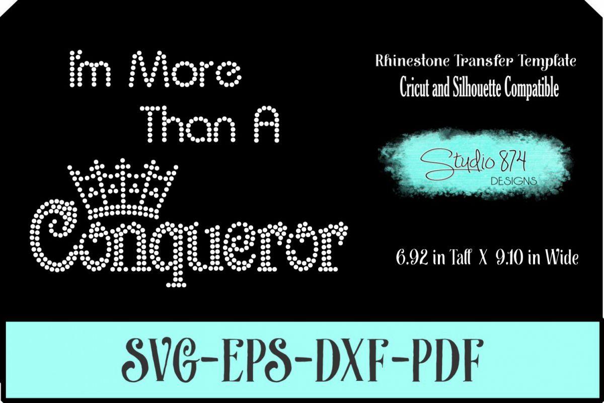 Faith Religious Rhinestone SVG Template - Conqueror example image 1
