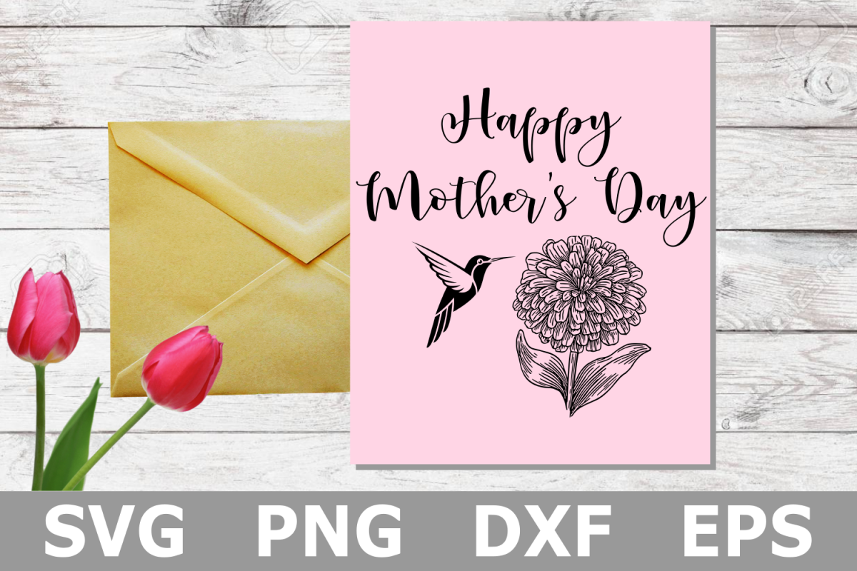 Hummingbird Mother's Day - A Mothers Day SVG Cut File example image 1