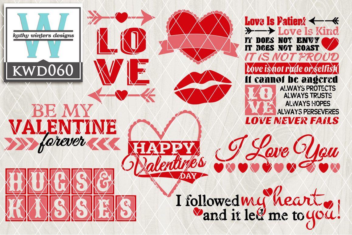 Valentines SVG - Valentines Bundle KWD060 example image 1