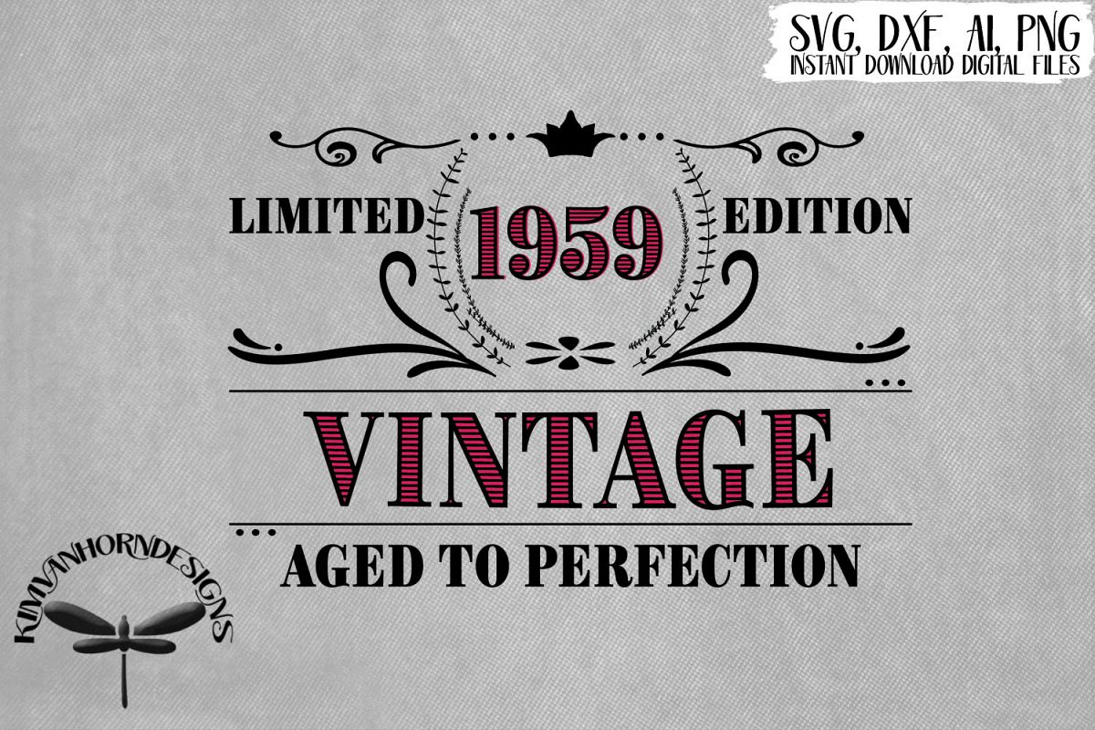 Vintage 1959 Aged to Perfection - 60th Birthday example image 1